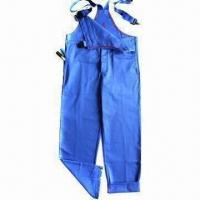 Flame Retardant Bib Pants with 100% Cotton Twill Fabric, According to EN11612/EN11612 Manufactures