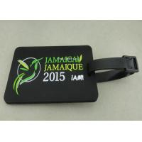 Personalized Soft PVC Luggage Tag , 2D Eco Friendly Rubber Personalized Luggage Tags Manufactures