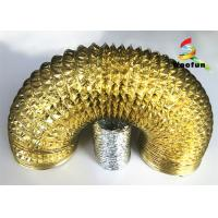 Ventilation Gold Aluminum Foil Ducting , Unique Flexible Air Duct Hose Manufactures