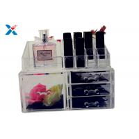 China Eco Friendly Acrylic Makeup Organiser With Drawers Display Storage Box on sale