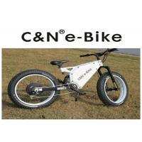 "26"" Enduro Electric Fat Tire Mountain Bike Aluminum Alloy Frame White Color Manufactures"