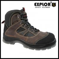 Men's heavy duty safety shoes with steel toe work shoes waterproof boots brown
