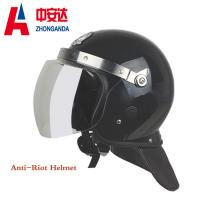 Black Anti Riot Helmet Shell Abs And Visor Pc  For Police Riot Control Manufactures