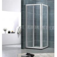 More Entrance Space Aluminum Alloy  Shower  Screen Square 5MM Framed  Bright / Matte Silver Manufactures