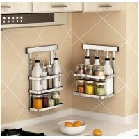 Metal Hanger Wall Hanging Steel Kitchen Rack Movable Bathroom Storage Manufactures