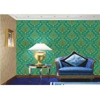 PVC Vinyl Large Print Damask Wallpaper For Interior Walls , Eco Friendly Manufactures