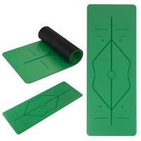 China Natural Rubber Yoga Mat, Body alignment lines Non-Slip Fitness pad 5mm Excercise Pad on sale