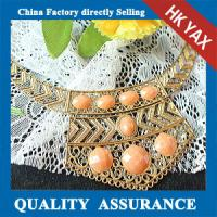 vintage chain resin stone necklace rhinestone fashion design Manufactures