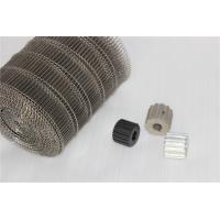 China Metal Flat Flex Wire Mesh Conveyor Belt 1.0- 4.0 Mm Dia Smooth Surface Fire Prevention on sale