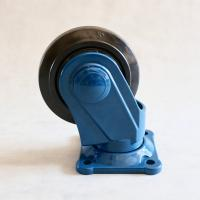 5 Rubber Caster Wheels Mounting Bracket Plastic / Rubber Wheel For Trolley Manufactures