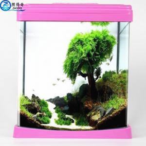 China Colorful Aquarium Fish Tank Beautiful For Home / Hote Corner Decoration on sale