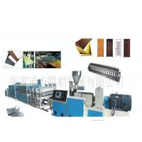 Wpc Pvc Door And Window Profile Production Line / Wpc Profile Machine Manufactures