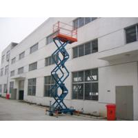 9m Hydraulic Scissor Lift With Motorized Device Electric Lifting Table 450kg Loading Capacity Manufactures