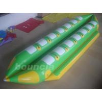 Double Lanes Inflatable Banana Boat With Reinforced Strips For Adult Manufactures