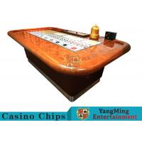 Standard Casino Sic Bo Luxury Casino Craps Poker Table / Electronic Poker Table Manufactures