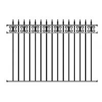Waterproof Ornamental Iron Parts Outdoor Garden Fencing Cast Iron Fence Panel Manufactures