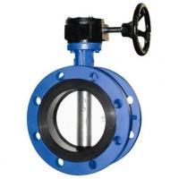 4 Inch Resilient Seated Butterfly Valves With Worm Gear / Double Flanged Butterfly Valve Manufactures