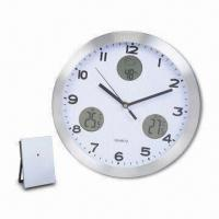 In/Out Door Wall Clock with Weather Forecast and Thermometer Display Functions Manufactures
