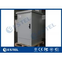 China Solid Structure Outdoor Telecom Cabinet IP55 Galvanized Steel With Front Rear Access on sale