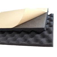 Quality Self - adhesive PU Foam Insulation Material Black Wavy Shape For Noise Reduction for sale