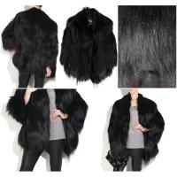 China Women's Goat skin Coats Goat Fur Coats Goat skin Jackets Goat Fur Jackets Black Z26 on sale
