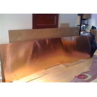 High Strength Casting Brass Copper Sheet Metal With Ixygen Free 1.5mm Manufactures