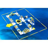 Inflatable Floating Water Park /  Kids Water Park Projects With 0.9mm PVC Tarpaulin Manufactures