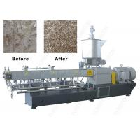 Parallel Twin Screw PET Plastic Flakes / Scraps Granulator Machine With High Tool Steel Screw Manufactures
