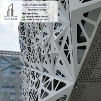China SUDALU 3D Aluminum Solid Wall panel Perforated Facade Cladding for Building on sale