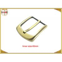 40mm Gold Custom Zinc Alloy Metal Pin Belt Buckle / Coat Belt Buckle Replacement Manufactures