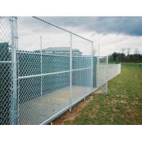 China Easy Install Green PVC Coated Wire Mesh Fencing , Security Chain Link Fence on sale