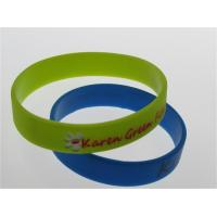 one color filled light yellow silicone bracelets 202*12*2mm debossed and painted Manufactures