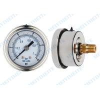 50mm Precision pressure gauge with 1/4 connector and stainless steel bayonet bezel Manufactures