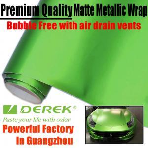 Matte Metallic Car Wrapping Films - Matte Metallic Apple Green Manufactures