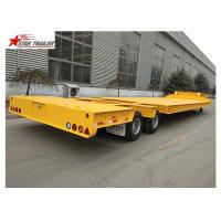 China 35-80 Ton Drop Deck Lowboy Semi Trailer With Four Big Double Air Chamber on sale