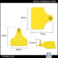 Livestock Farm Cattle Ear Tags Female And Male Two Pieces RBC-ETP23 Manufactures