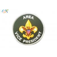 Logo Custom Boy Scout Patches , Army Green Color Custom Military Patches With Letter Manufactures