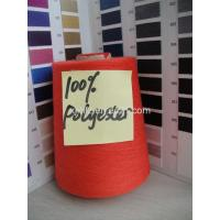 20s/1 100% Polyester Spun Dyed Yarn,Red Color Manufactures
