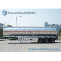 Stainless Steel Tri-axle Oil Tank Trailer 40000L 12000*2500*3650mm Manufactures