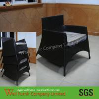 China Stackable Garden Resin Wicker  Chairs , Living Room Cane Chairs on sale