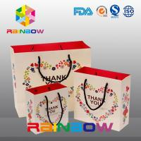 Promotional Printed Gift Paper Bag / Custom Christmas Paper Shopping Bags Manufactures