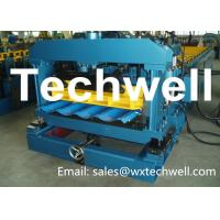 PLC Control Metal Roof Tile Making Machine For Material Thickness 0.3 - 0.6mm Manufactures
