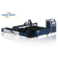 Quality 1500W Metal Tube / Plate Fiber High Speed Laser Cutting Machine With Rotary Device for sale