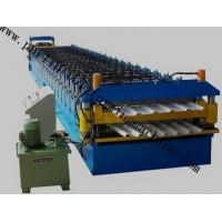Color Coated Roof Panel Roll Forming Machine , Roof Tile Forming Machine For Metal Sheet Manufactures
