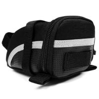 China 900d Polyester Reflective Zippered Tool Bag For Bicycle Velcro Strap Mesh Pocket on sale