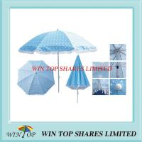 China Printed Beach Umbrella Parasol with Lace on sale