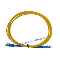 High Presion Ferrule Fiber Optical Patch Cord , SM Simplex SC-SC Manufactures