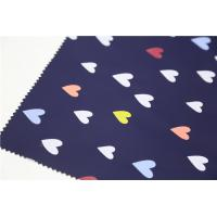 Blue Printed PU Leather With Sweet Heart For Children's Coat , Windbreaker , Raincoat Manufactures
