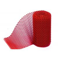 China Anodic Oxide 1.2MM X8MM Aluminum wire Coil Mesh Curtains For Interior Partition on sale