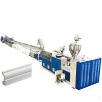 Plastic PS Pvc Profile Production Line Skirting Board High Performance Extrusion Manufactures